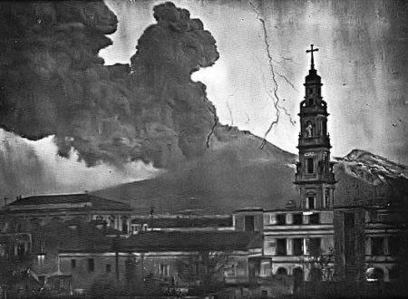 L'eruzione del Vesuvio del 1944